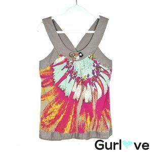 One September Size M Anthro Halter Multicolor Top